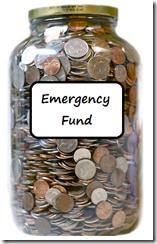 coin-jar Emergency fund