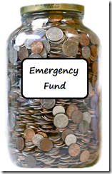 coin-jar Emergency fund